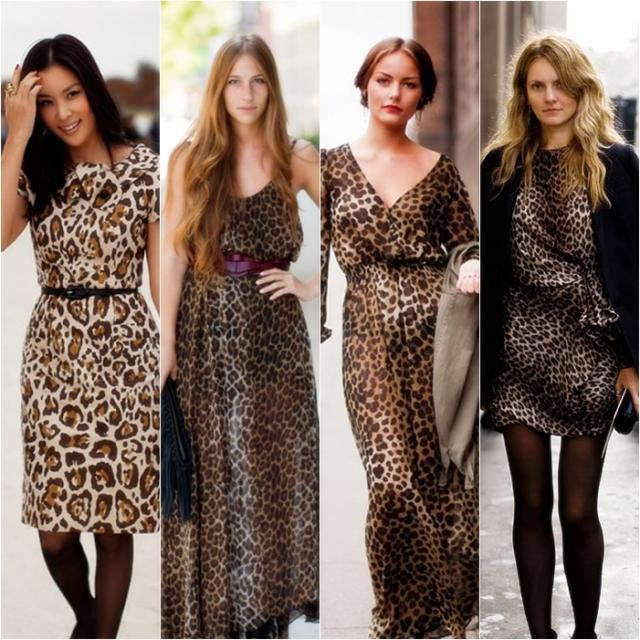 Леопардовое платье с аксессуарами