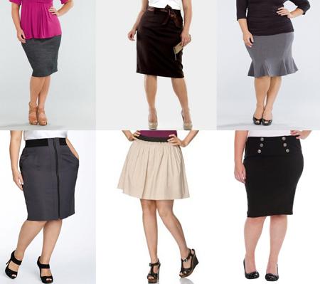 Юбки для полных девушек модели